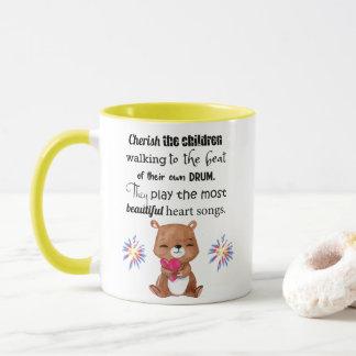 Special Needs Kids Inspirational, Heart Songs Mug