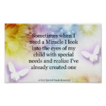 Special Needs Miracle Butterfly Poster