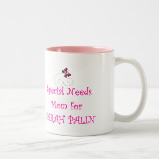 Special Needs Mom for Sarah Palin Two-Tone Coffee Mug
