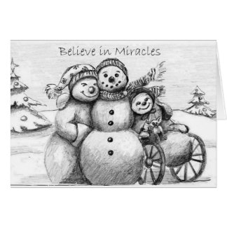 Special Needs Snowman Card