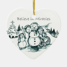 Special Needs Snowman Family Christmas Ornament at Zazzle