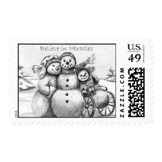 Special Needs Snowman Postage