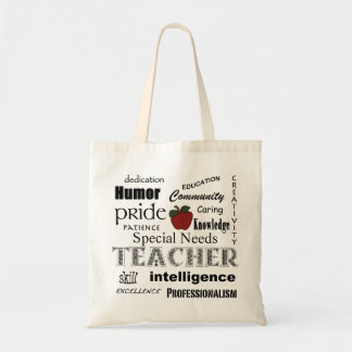 Special Needs Teacher-Red Apple+Customizable Tote Bag