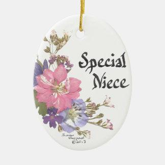Special Niece Ceramic Ornament