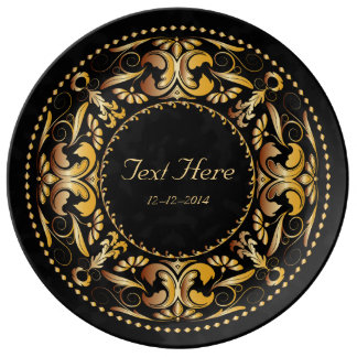 Special Occasion Amber Medallion - Ceramic Plate