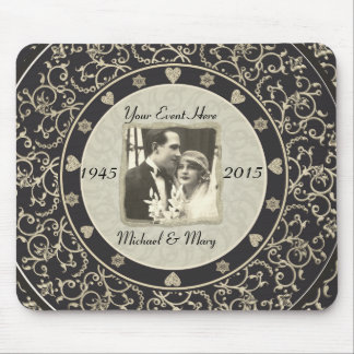 Special Occasion Customizable Wedding Photo Frame Mouse Pad