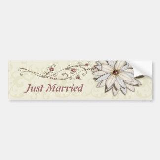 Special Occasion Elegant Floral Design Bumper Sticker