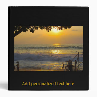 Special Occasion Gold Beach Scenery Photo Album 3 Ring Binder