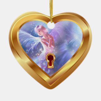 Special  Occasion Gold Heart Photo Ornament