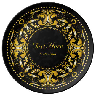 Special Occasion Gold Medallion - Ceramic Plate Porcelain Plate