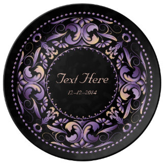 Special Occasion Purple & Pink - Ceramic Plate