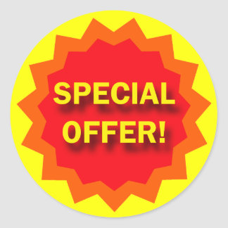 SPECIAL OFFER - RETAIL SIGN CLASSIC ROUND STICKER