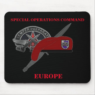 SPECIAL OPERATIONS COMMAND EUROPE MOUSEPAD