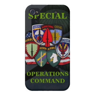 special operations command unit patches cas iPhone 4 cover