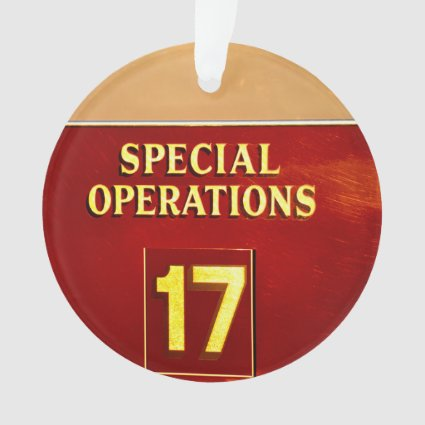 special operations firetruck 17 sign