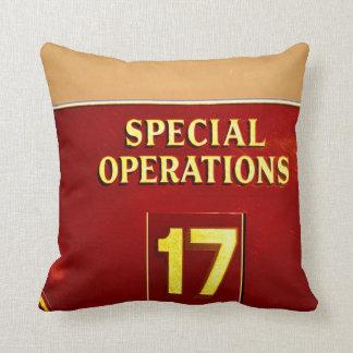 special operations firetruck 17 sign pillow