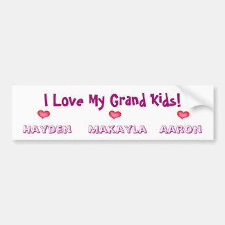 Special Order for Debbie/GrandKids Bumper Sticker Car Bumper Sticker