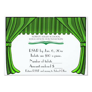Special Order Theater Curtains RSVP Card