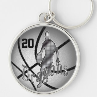Special Order these Cool Basketball Senior Gifts Silver-Colored Round Keychain