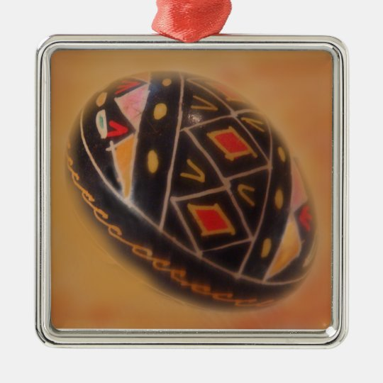 Special Painted Egg Metal Ornament