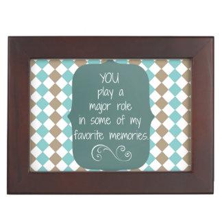 Special People and Favorite Memories Quote Keepsake Box