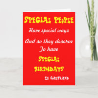 Special People Ex Girlfriend Birthday Cards