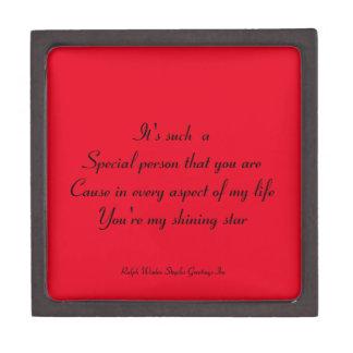 Special person jewelry box