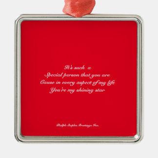 Special person metal ornament