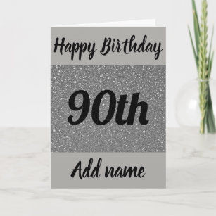 Special Personalised 90th Birthday Card