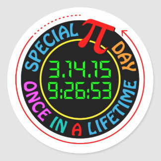Special Pi Day 2015 Classic Round Sticker