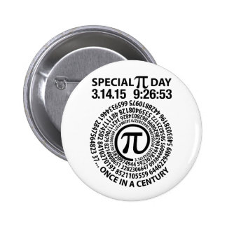 Special Pi Day 2015, Spiral 2 Inch Round Button