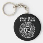 Special Pi Day 2015, Spiral Basic Round Button Keychain