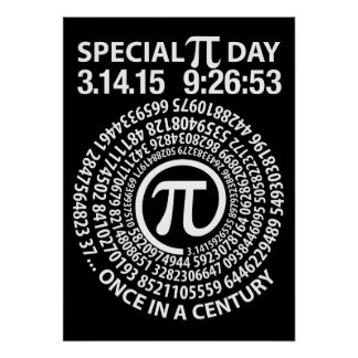 Special Pi Day 2015, Spiral Poster