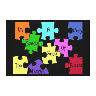 Special Piece Of The Autism Puzzle Premium Canvas Stretched Canvas Print