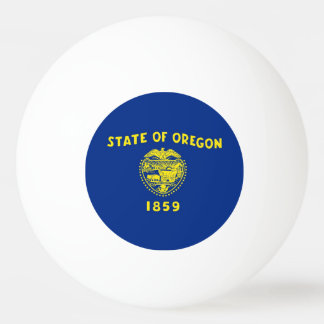 Special ping pong ball with Flag of Oregon State