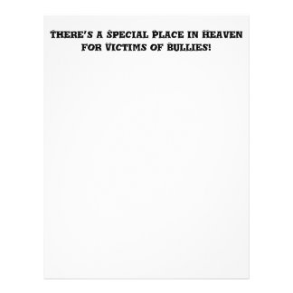 Special Place in Heaven for Victims of Bullies Flyer