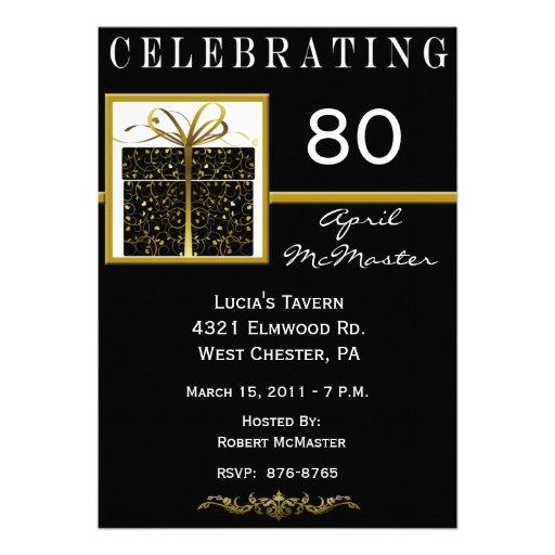 Special Present 80th Birthday Party Invitation