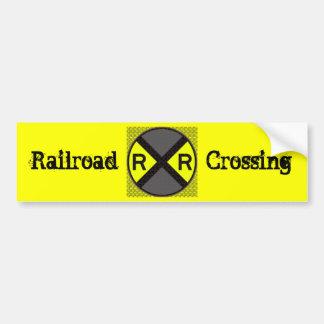 Special Railroad Crossing Bumper Sticker