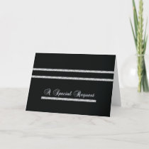 Special Request - Formal - Black and silver Invitation