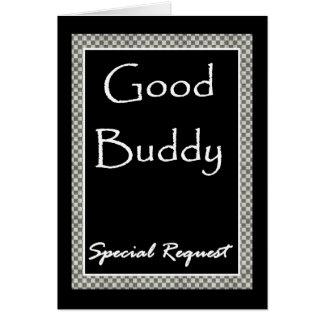 SPECIAL REQUEST Invitation  w/ Checkerboard Border Greeting Card