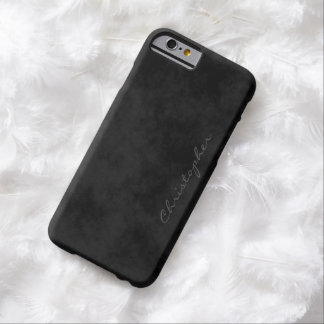 * Special Request Signature Mottled Black 6/6s Barely There iPhone 6 Case