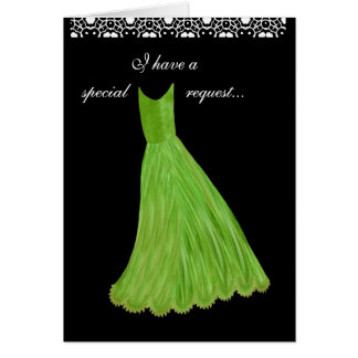 SPECIAL REQUEST - Wedding Invitation LIME Gown