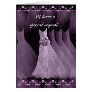SPECIAL REQUEST - Wedding Invitation Purple Gowns