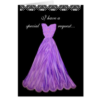 SPECIAL REQUEST - Wedding Invitation PURPLE Gowns Greeting Card