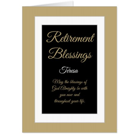 Special Retirement blessings Big card