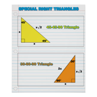 Special Right Triangles Poster