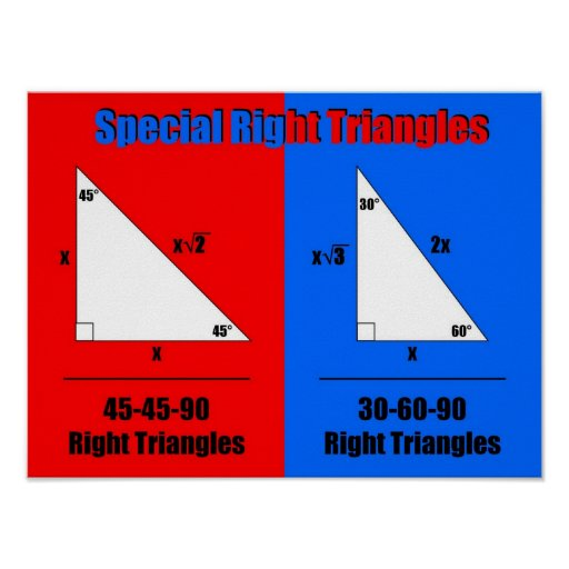 Special Right Triangles Posters