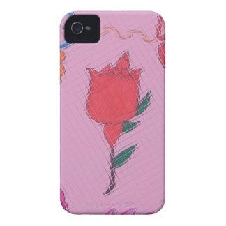Special Rose Tile Art Graphic Design Case-Mate iPhone 4 Case