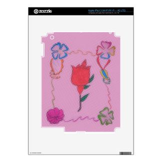 Special Rose Tile Art Graphic Design Decals For iPad 3