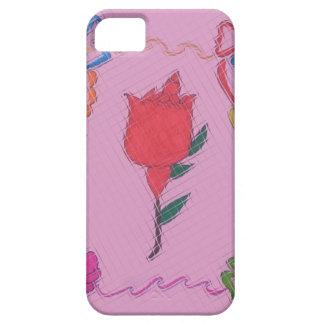 Special Rose Tile Art Graphic Design iPhone 5 Case